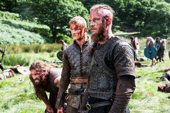 A-family-affair-L-to-R-Rollo-Clive-Standen-Bjorn-Alexander-Ludwig-and-Ragnar-Travis-Fimmel