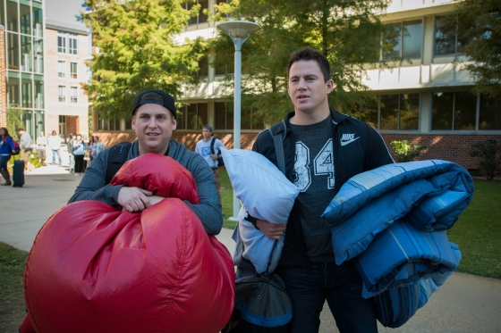 "Jonah Hill, left, and Channing Tatum in Columbia Pictures' ""22 Jump Street."""